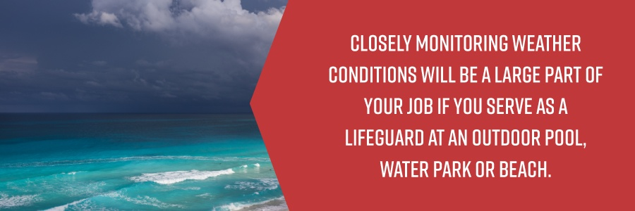 Lifeguards Monitor Weather