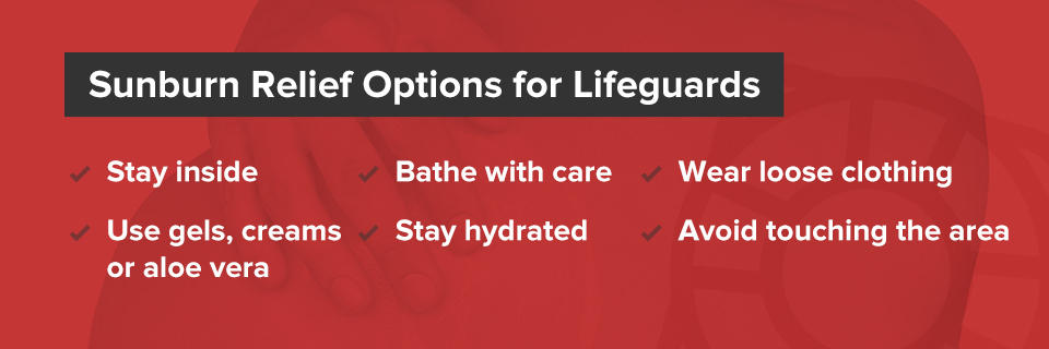 Sunburn Relief Options for Lifeguards