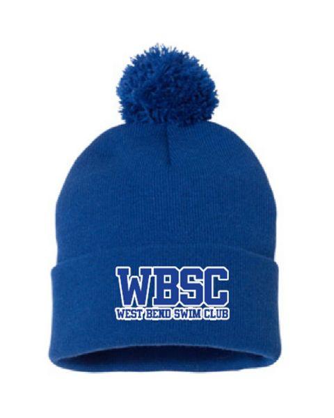 West Bend Swim Club Pom Pom Knit Cap