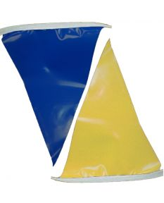 50 ft. Polyethylene Flags-Blue/Gold