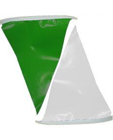 100 ft. Polyethylene Flags-Green/White