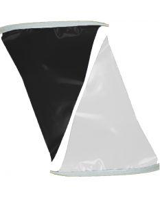 50 ft. Polyethylene Flags-Black/White
