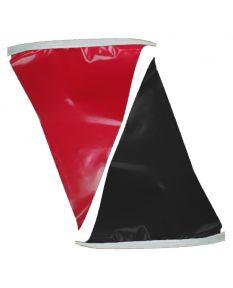100 ft. Polyethylene Flags-Black/Red