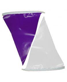 100 ft. Polyethylene Flags-Purple/White