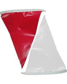100 ft. Polyethylene Flags-Red/White
