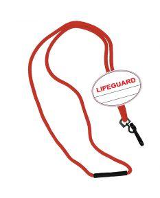 Lifeguard Oval Name Tag Breakaway Lanyard
