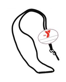 YMCA Custom Name Oval Tag Break Away Lanyard -Black