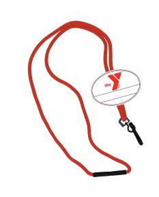YMCA Custom Name Oval Tag Break Away Lanyard -Red