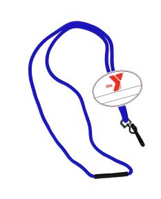 YMCA Custom Name Oval Tag Break Away Lanyard -Royal