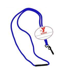 YMCA Guard Custom Name Tag Break Away Lanyard-Royal