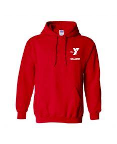 YMCA Standard Guard Hooded Sweatshirt-Red-Small