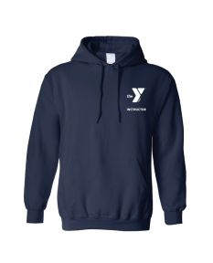 YMCA Standard Instructor Hooded Sweatshirt-Navy-Small
