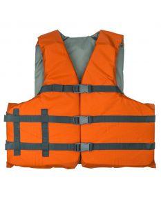 RISE Aquatics Rip Stock Adult General Purpose Life Vest -Rustic Orange-Oversize