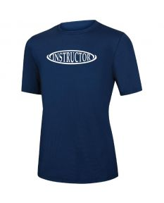 RISE Instructor Short Sleeve Crew Neck Rashguard -Navy-XSmall