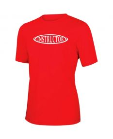 RISE Instructor Short Sleeve Crew Neck Rashguard -Red-XSmall