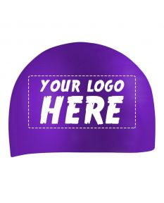 Custom Printed Silicone Caps-Purple-1-Color Logo