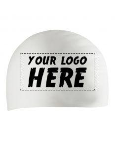 Custom Printed Silicone Caps-White-1-Color Logo
