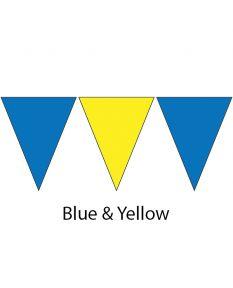 Plastic Backstroke Flags - 45 Ft. (Pair)-Blue/Yellow