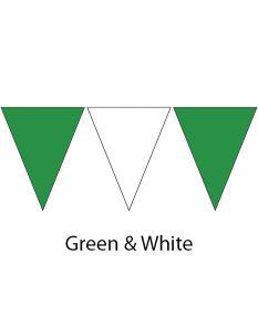 Plastic Backstroke Flags - 45 Ft. (Pair)-Green/White