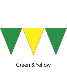 Plastic Backstroke Flags - 45 Ft. (Pair)-Green/Yellow