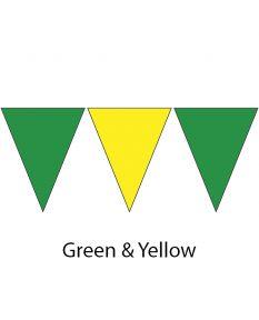 Nylon Backstroke Flags - 45 Ft. (Pair)-Green/Yellow