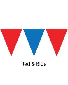 Plastic Backstroke Flags - 45 Ft. (Pair)-Red/Blue