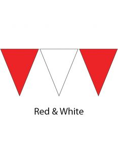 Plastic Backstroke Flags - 45 Ft. (Pair)-Red/White