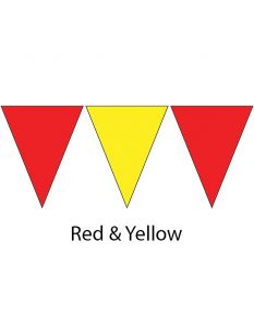 Plastic Backstroke Flags - 45 Ft. (Pair)-Red/Yellow