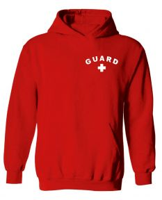 Guard Hooded Sweatshirt - Color - Red,Size - Small