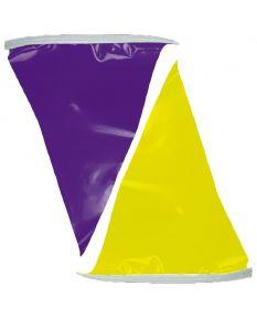 50 ft. Polyethylene Flags-Purple/Yellow