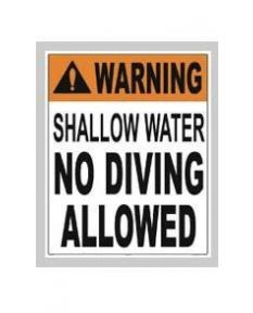 Shallow Water No Diving