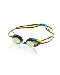 Speedo Jr. Vanquisher 2.0 Mirrored Goggle-Vivid Teal