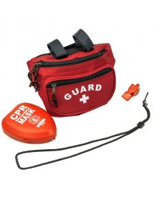Guard Red Waterpark Hip Pack/Pocket Mask Combo Kit