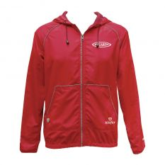 Kiefer Solid Unisex Guard Tech Jacket-Red-XSmall
