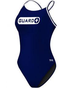TYR Guard Women's Durafast One Cutoutfit Swimsuit-Navy-26