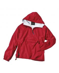 Charles River Adult Solid Hooded Pullover - Color - Red,Size - Large