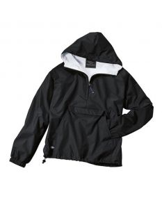 Charles River Adult Solid Hooded Pullover - Color - Black,Size - Small