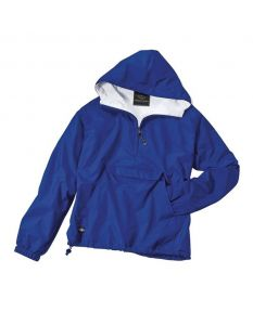 Charles River Adult Solid Hooded Pullover - Color - Royal,Size - Small