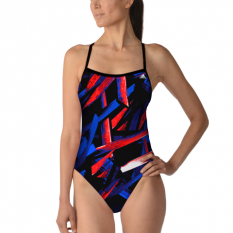 Adidas Code of Tribe Open Back Swimsuit
