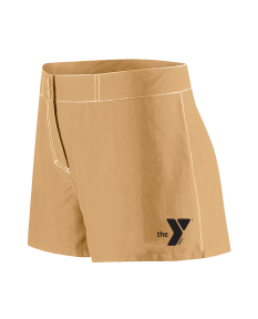 YMCA Standard Female Flex Short-Khaki-XSmall