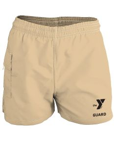 YMCA Guard Female Board Short-Khaki-XSmall
