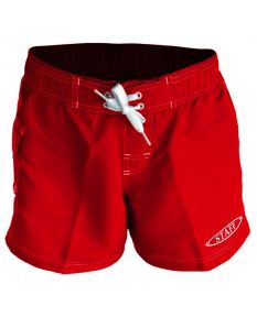 RISE Staff Female Flex Short-Red-XSmall