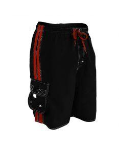 RISE Guard Splice Flex Board Short - Color - Black/Red,Size - Small