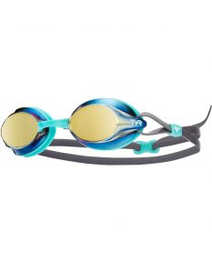 TYR Velocity Metallized Goggle - Color - Gold/Mint