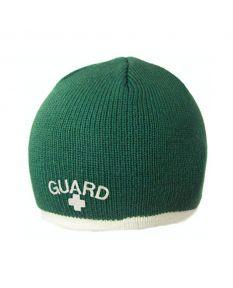 Guard Single Stripe Knit Beanie - Color - Green/Cream