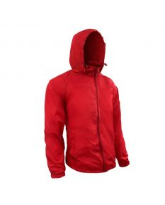RISE Solid Waterproof Jacket - Color - Red,Size - Small