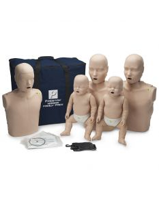 Prestan Family Pack- 2 Adult, 1 Child and 2 Infant Manikins with Rate Monitor