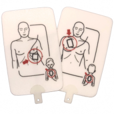 Adult/Child Replacement Training Pads with Pad Sensing System for the Prestan Professional AED Trainer PLUS (Single Pack)