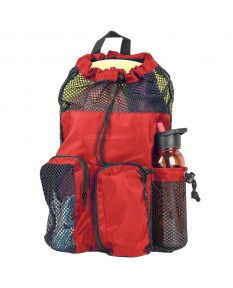 RISE Solid Mesh Equipment Bag-Red/Black