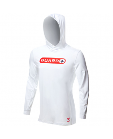 TYR Guard Men's Hoodie-White-Small